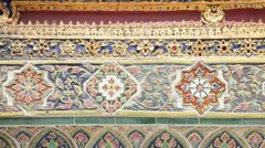 Wall of Temple of the Emerald Buddha Stock Footage