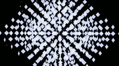 Abstract mosaics square array,tech web background. Stock Footage
