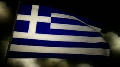 Flag Greece 02 Stock Footage