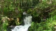 Stock Video Footage of Waterfall underneath Pontcysyllte aqueduct, Wales