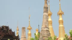 Pagoda Indein, Myanmar Stock Footage