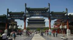 Qianmen Beijing Stock Footage
