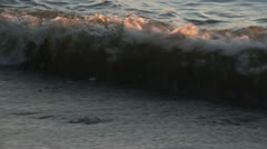Waves at sunset - stock footage