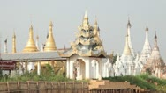 Pagoda on Inle lake, Myanmar Stock Footage