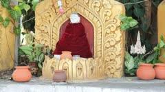 Buddha inside pagoda on Inle lake Stock Footage