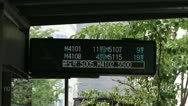 Stock Video Footage of Bus timetable signboard at bus stop in Seoul