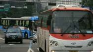 Stock Video Footage of Buses on bus-only lane in Seoul