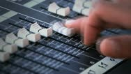 Stock Video Footage of Sound console