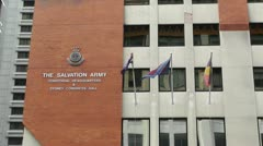 The Salvation Army Territorial Headquarter in Sydney Stock Footage