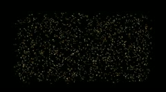 Abstract particles fireworks,microbes bacteria spores sperm,micro nano ions. Stock Footage