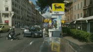 Busy small petrol station in Italy Stock Footage