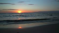 Sunset at sea - stock footage