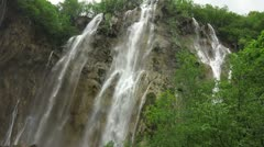 Waterfall in Plitvice National Park, Croatia, Europe - stock footage
