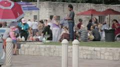 Stock Footage - San Antonio Texas - Vendors and Tourist at Alamo Stock Footage