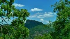 Beautiful view of table rock mountain in north carolina Stock Footage