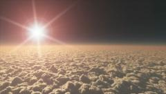 Sunrise over clouds HD Stock Footage