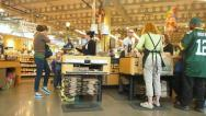 Checkout at the Market Time Lapse Stock Footage