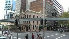 Sydney Market Street Monorail 01 - stock footage
