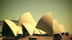 Sydney Opera House 70s old film stylized 01 Stock Footage