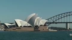 Sydney Opera House and Harbour Bridge 01 Stock Footage