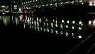 Boardwalk at night Stock Footage