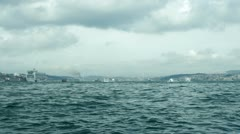 ISTANBUL, TURKEY: Ship sails to the Bosphorus Stock Footage