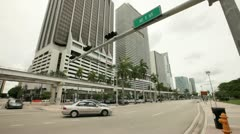 Biscayne Boulevard facing North Stock Footage