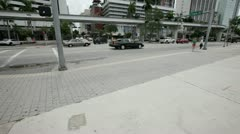 Flagler Street and Biscayne Boulevard Stock Footage