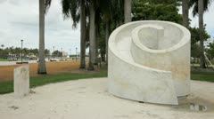 Art at Downtown Miami Stock Footage