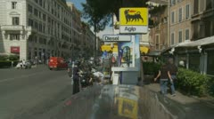 Diesel fill up station in Rome Stock Footage