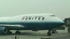 Beijing Capital International Airport 11 united Stock Footage