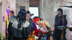 Aztec ceremony - stock footage