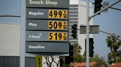 High Gas Prices Stock Footage