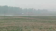 Beijing Capital International Airport 21 on the runway air china handheld Stock Footage