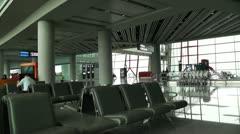 Beijing Capital International Airport Terminal Waiting Hall 01 Stock Footage