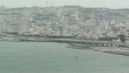 Stock Video Footage of Okinawa City view from Airplane 02 handheld
