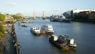Time Lapse of Tower Bridge Dusk,London, UK Stock Footage