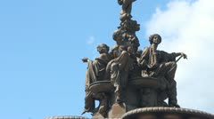 The Ross Fountain in Princes Street Gardens Stock Footage