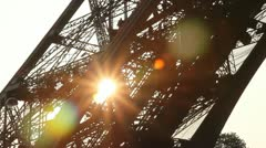 Eiffel Tower Sunset. Stock Footage