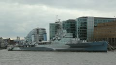 HMS Belfast. Stock Footage