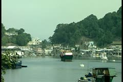 Boats on river 2 by DJM Stock Footage