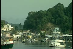 Boats on river 8 by DJM Stock Footage