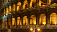 Rome: the Colosseum time lapse night timelapse Stock Footage