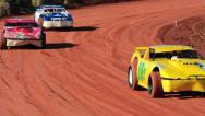 Super Stock Car Race 01 Stock Footage