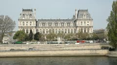 Hotel de Ville. Paris. Stock Footage
