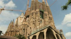 La Sagrada Familia, Barcelona Stock Footage
