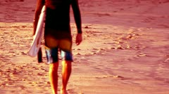 Cool surfer mexico Stock Footage