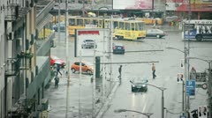Urban Rush Hour Timelapse Stock Footage