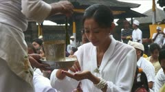 Bali Temple ceremony  at Pasar Agung Stock Footage