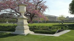 Tuileries Garden. Stock Footage